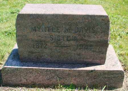 DAVIS, MYRTLE M - Polk County, Oregon | MYRTLE M DAVIS - Oregon Gravestone Photos