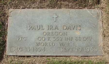 DAVIS, PAUL IRA - Polk County, Oregon   PAUL IRA DAVIS - Oregon Gravestone Photos