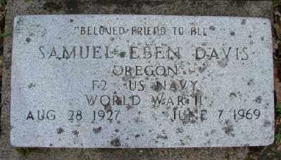 DAVIS (WWII), SAMUEL EBEN - Polk County, Oregon | SAMUEL EBEN DAVIS (WWII) - Oregon Gravestone Photos