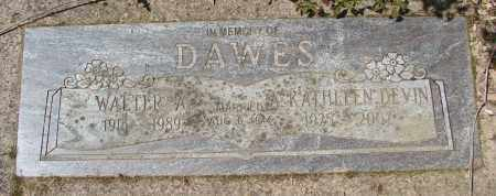 DAWES, A KATHLEEN - Polk County, Oregon | A KATHLEEN DAWES - Oregon Gravestone Photos