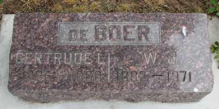 HEFFLEY DE BOER, GERTRUDE - Polk County, Oregon   GERTRUDE HEFFLEY DE BOER - Oregon Gravestone Photos