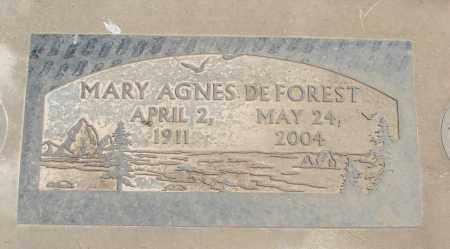 DEFOREST, MARY AGNES - Polk County, Oregon   MARY AGNES DEFOREST - Oregon Gravestone Photos