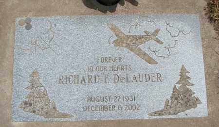 DELAUDER, RICHARD F - Polk County, Oregon | RICHARD F DELAUDER - Oregon Gravestone Photos