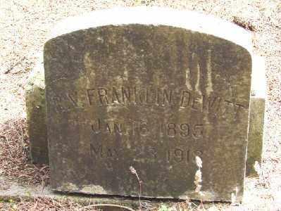 DEWITT, FRANKLIN - Polk County, Oregon | FRANKLIN DEWITT - Oregon Gravestone Photos