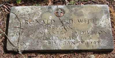DEWITT, RONALD V - Polk County, Oregon   RONALD V DEWITT - Oregon Gravestone Photos