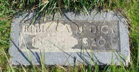 DICK, REBECCA M - Polk County, Oregon   REBECCA M DICK - Oregon Gravestone Photos