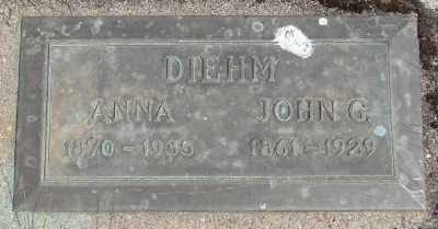 DIEHM, JOHN G - Polk County, Oregon | JOHN G DIEHM - Oregon Gravestone Photos