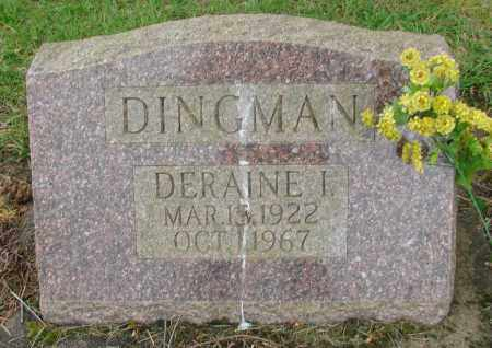 DINGMAN, DERAINE I - Polk County, Oregon   DERAINE I DINGMAN - Oregon Gravestone Photos