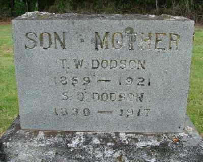 DODSON, T W - Polk County, Oregon   T W DODSON - Oregon Gravestone Photos