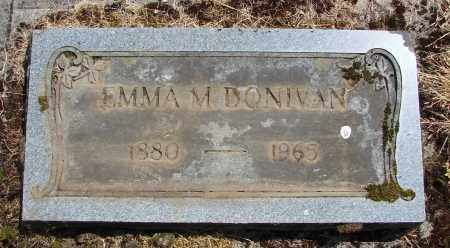 DONIVAN, EMMA M - Polk County, Oregon | EMMA M DONIVAN - Oregon Gravestone Photos