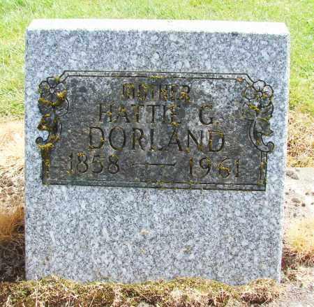 DORLAND, HATTIE G - Polk County, Oregon | HATTIE G DORLAND - Oregon Gravestone Photos