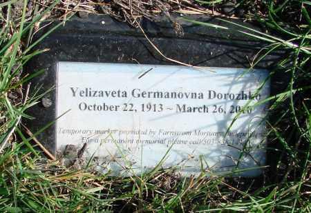 DOROZHKO, YELIZAVETA GERMANOVNA - Polk County, Oregon | YELIZAVETA GERMANOVNA DOROZHKO - Oregon Gravestone Photos