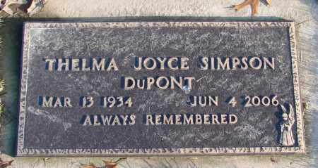 SIMPSON, THELMA JOYCE - Polk County, Oregon | THELMA JOYCE SIMPSON - Oregon Gravestone Photos