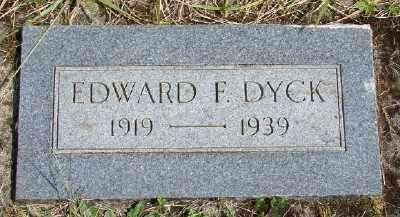 DYCK, EDWARD F - Polk County, Oregon | EDWARD F DYCK - Oregon Gravestone Photos