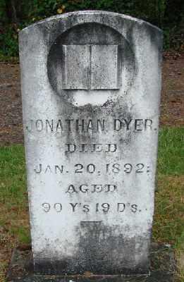 DYER, JONATHAN - Polk County, Oregon | JONATHAN DYER - Oregon Gravestone Photos