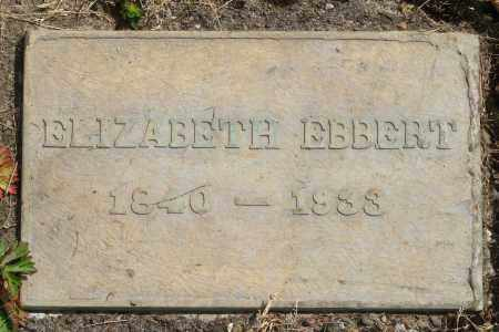 EBBERT, ELIZABETH - Polk County, Oregon | ELIZABETH EBBERT - Oregon Gravestone Photos