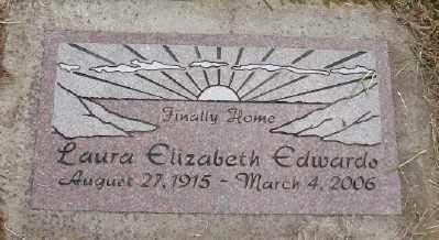 EDWARDS, LAURA ELIZABETH - Polk County, Oregon | LAURA ELIZABETH EDWARDS - Oregon Gravestone Photos