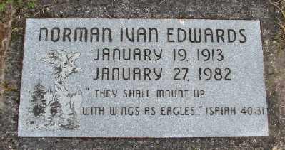 EDWARDS, NORMAN IVAN - Polk County, Oregon   NORMAN IVAN EDWARDS - Oregon Gravestone Photos