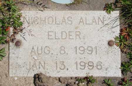ELDER, NICHOLAS ALAN - Polk County, Oregon | NICHOLAS ALAN ELDER - Oregon Gravestone Photos