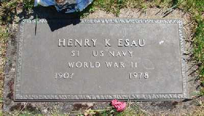 ESAU (WWII), HENRY K - Polk County, Oregon   HENRY K ESAU (WWII) - Oregon Gravestone Photos