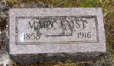 FAIST, MARY - Polk County, Oregon   MARY FAIST - Oregon Gravestone Photos