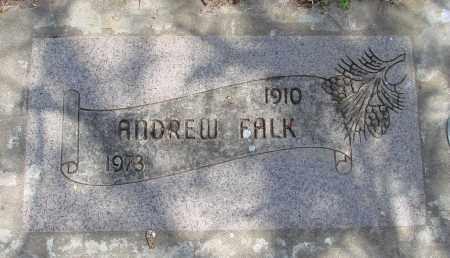 FALK, ANDREW - Polk County, Oregon | ANDREW FALK - Oregon Gravestone Photos