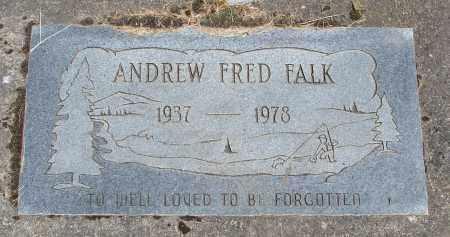 FALK, ANDREW FRED - Polk County, Oregon | ANDREW FRED FALK - Oregon Gravestone Photos