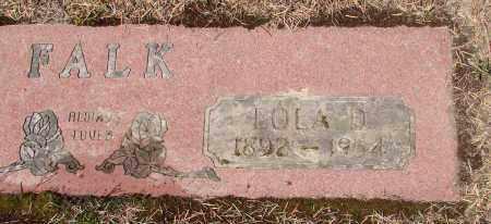 FALK, EOLA D - Polk County, Oregon | EOLA D FALK - Oregon Gravestone Photos