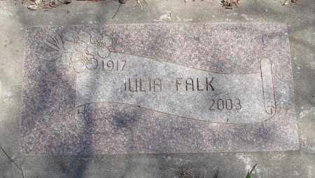 FALK, JULIA - Polk County, Oregon | JULIA FALK - Oregon Gravestone Photos