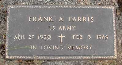 FARRIS (WWII), FRANK A - Polk County, Oregon | FRANK A FARRIS (WWII) - Oregon Gravestone Photos