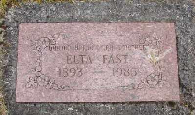FAST, ELTA - Polk County, Oregon | ELTA FAST - Oregon Gravestone Photos