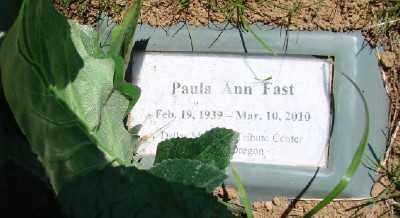 VANDERHOOF FAST, PAULA ANN - Polk County, Oregon | PAULA ANN VANDERHOOF FAST - Oregon Gravestone Photos