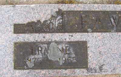 FAWK, ERMINE - Polk County, Oregon   ERMINE FAWK - Oregon Gravestone Photos