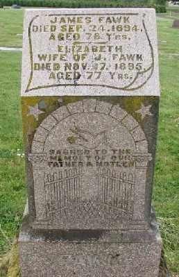 FAWK, ELIZABETH - Polk County, Oregon   ELIZABETH FAWK - Oregon Gravestone Photos