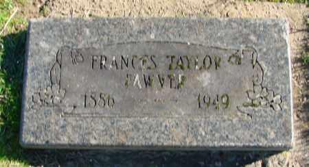 TAYLOR FAWVER, FRANCES - Polk County, Oregon | FRANCES TAYLOR FAWVER - Oregon Gravestone Photos