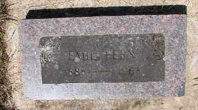 FERN, EMIL - Polk County, Oregon | EMIL FERN - Oregon Gravestone Photos