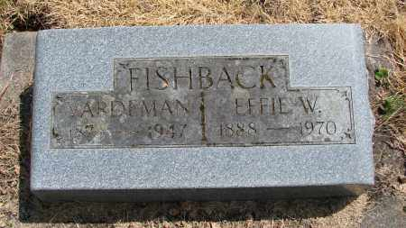 FISHBACK, EFFIE W - Polk County, Oregon | EFFIE W FISHBACK - Oregon Gravestone Photos
