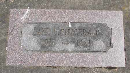 FITZGERALD, JANE E - Polk County, Oregon   JANE E FITZGERALD - Oregon Gravestone Photos