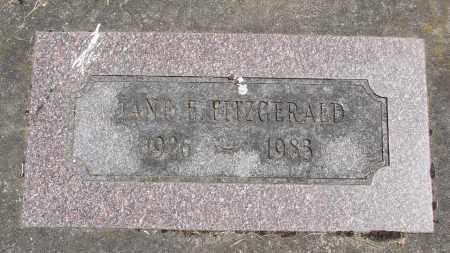 FITZGERALD, JANE E - Polk County, Oregon | JANE E FITZGERALD - Oregon Gravestone Photos