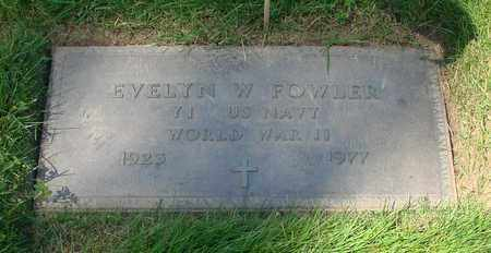 FOWLER, EVELYN W - Polk County, Oregon | EVELYN W FOWLER - Oregon Gravestone Photos