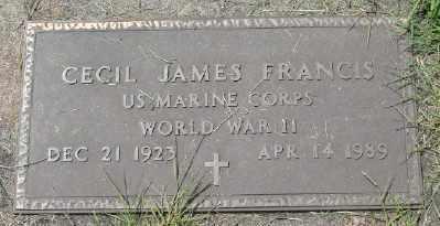 FRANCIS, CECIL JAMES - Polk County, Oregon   CECIL JAMES FRANCIS - Oregon Gravestone Photos