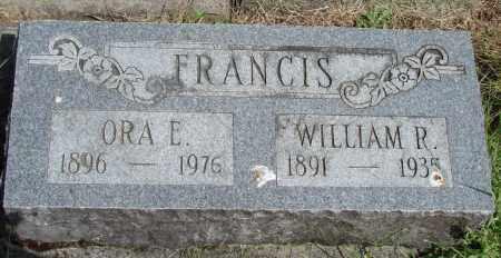 FRANCIS, ORA E - Polk County, Oregon | ORA E FRANCIS - Oregon Gravestone Photos