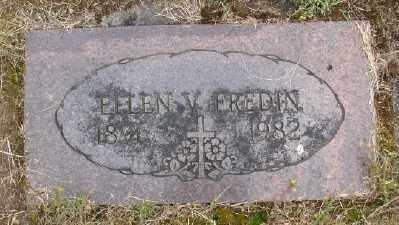 FREDIN, ELLEN V - Polk County, Oregon | ELLEN V FREDIN - Oregon Gravestone Photos