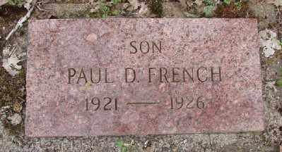 FRENCH, PAUL D - Polk County, Oregon | PAUL D FRENCH - Oregon Gravestone Photos