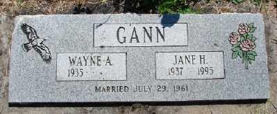 GANN, JANE H - Polk County, Oregon | JANE H GANN - Oregon Gravestone Photos