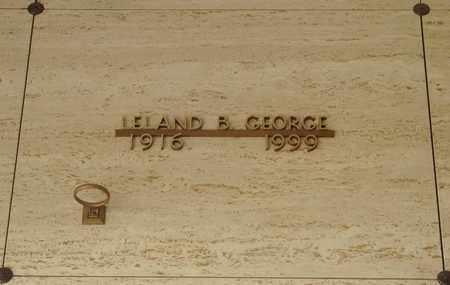 GEORGE, LELAND BASIL - Polk County, Oregon   LELAND BASIL GEORGE - Oregon Gravestone Photos