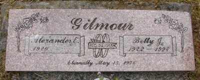 GILMOUR, BETTY J - Polk County, Oregon   BETTY J GILMOUR - Oregon Gravestone Photos