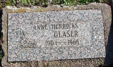 GLASER, ANNE - Polk County, Oregon | ANNE GLASER - Oregon Gravestone Photos