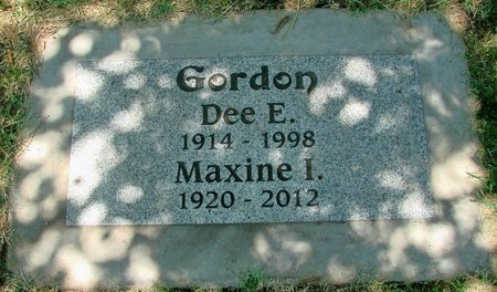 GORDON, MAXINE ILENE - Polk County, Oregon   MAXINE ILENE GORDON - Oregon Gravestone Photos