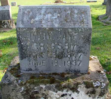 GRIGSBY, MARY JANE - Polk County, Oregon | MARY JANE GRIGSBY - Oregon Gravestone Photos